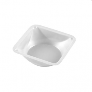 Weigh Dish, Square Polystyrene, Large, 5 1/2 x 5 1/2 x 7/8